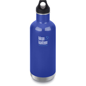 Klean Kanteen Classic Vacuum Insulated Drinkfles Loop Cap 946ml blauw